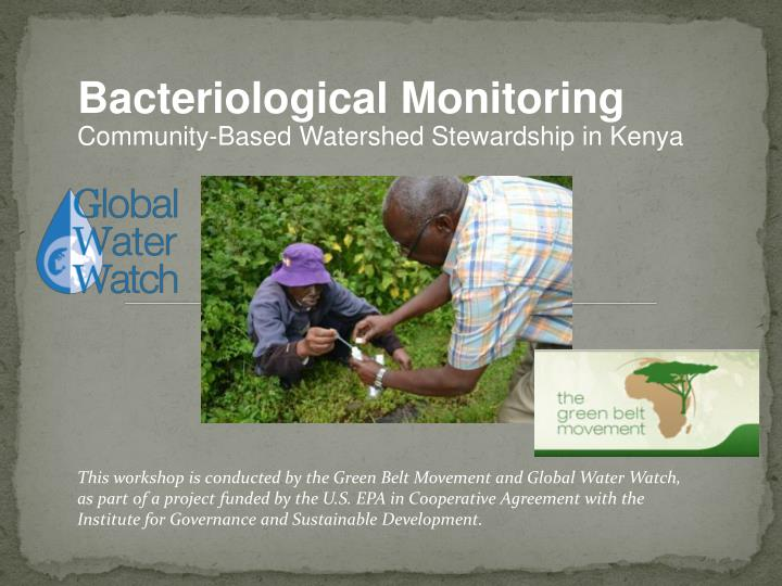 Bacteriological Monitoring