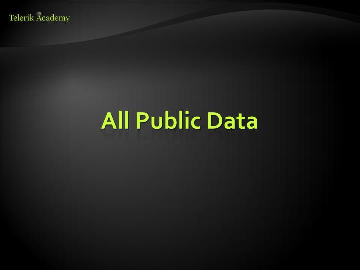 All Public Data