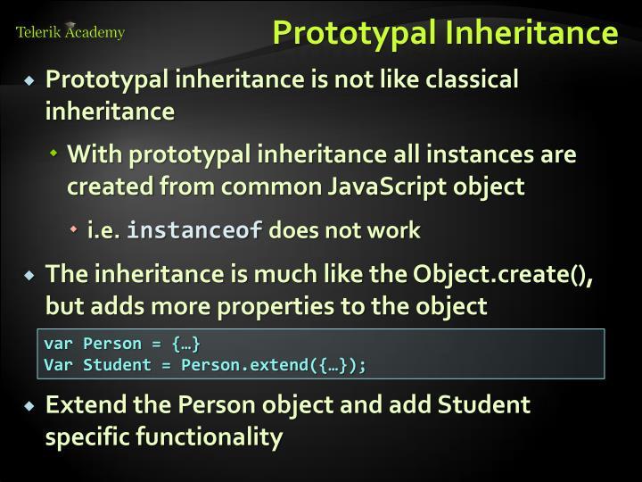 Prototypal Inheritance