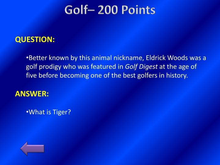 Golf– 200