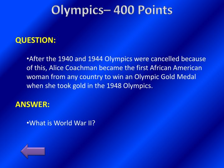 Olympics– 400