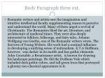 body paragraph three ext