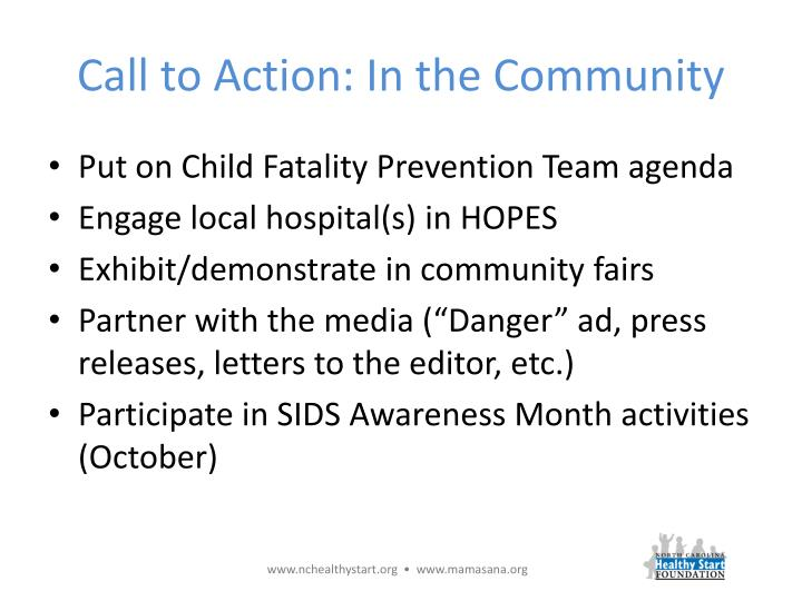 Call to Action: In the Community