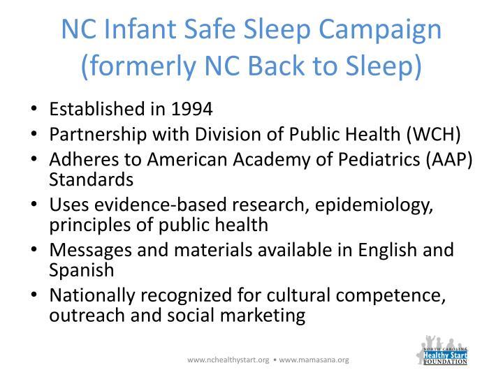 NC Infant Safe Sleep Campaign