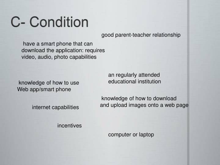 C- Condition
