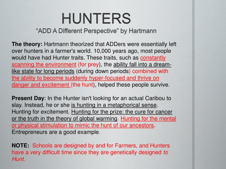 Hunters add a different perspective by hartmann