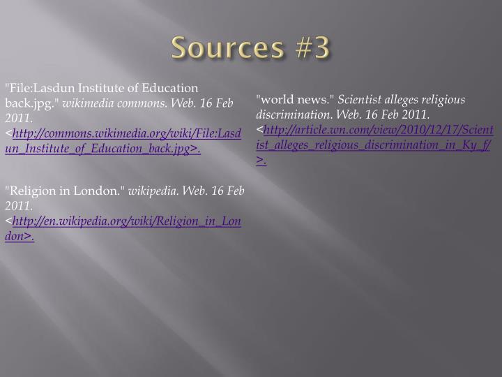 Sources #3
