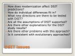 dsit issues