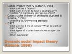 dynamic social impact theory latan 1996