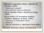 social norms and influence