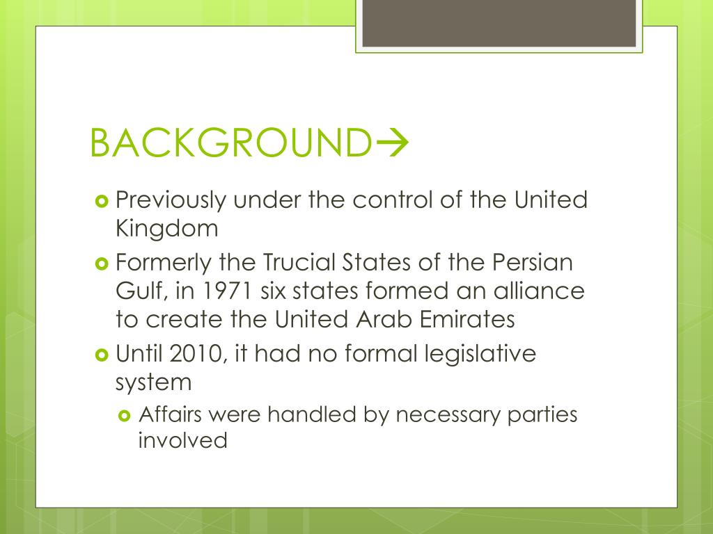 UNITED ARAB EMIRATES (UAE) - PowerPoint PPT Presentation