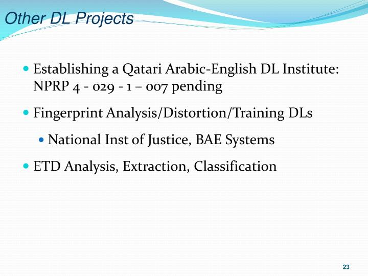Other DL Projects
