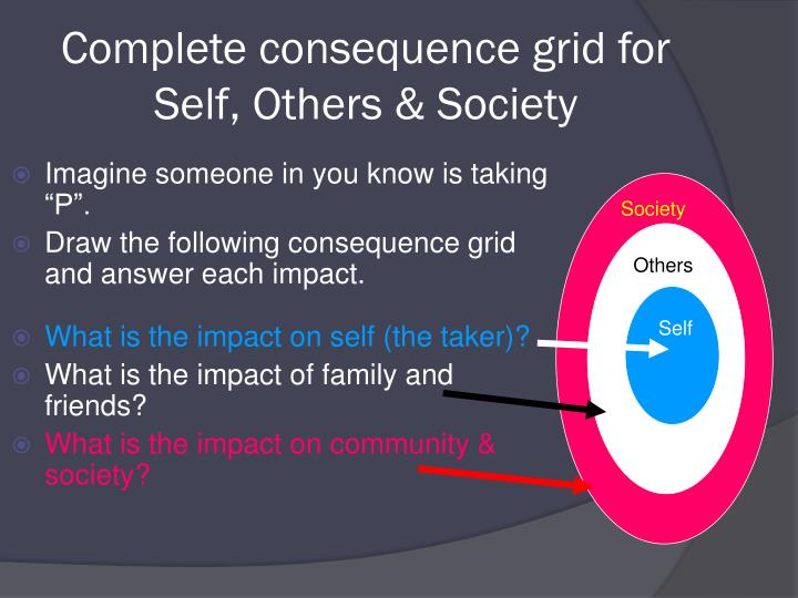 Complete consequence grid for Self, Others & Society