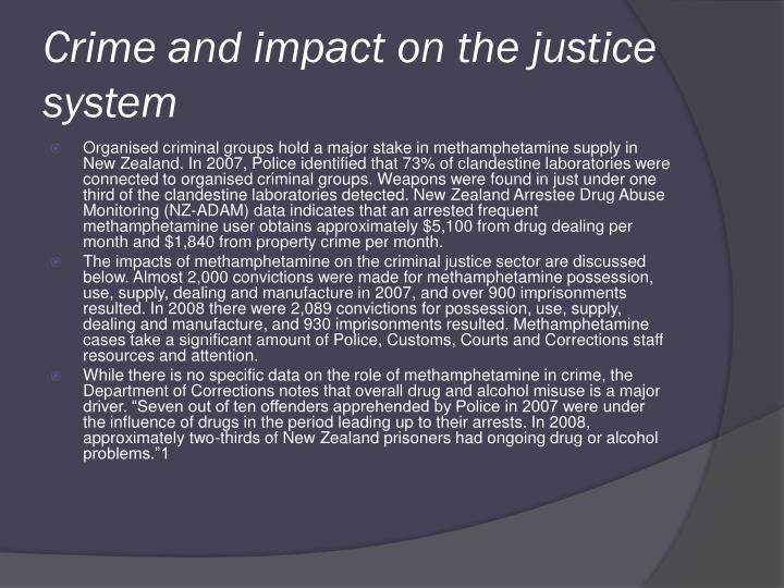 Crime and impact on the justice system