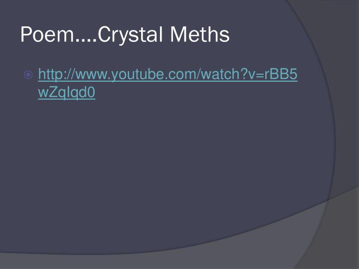 Poem….Crystal Meths