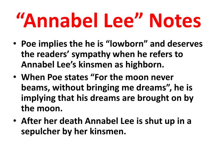 annabel lee death