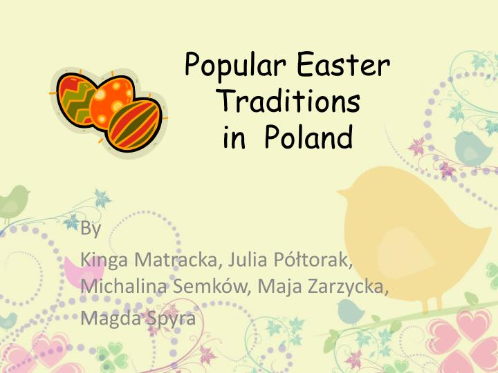 popular easter traditions in poland n.