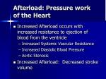 afterload pressure work of the heart