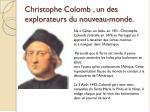 christophe colomb un des explorateurs du nouveau monde