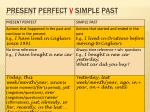 present perfect v simple past