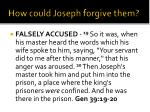 how could joseph forgive them4