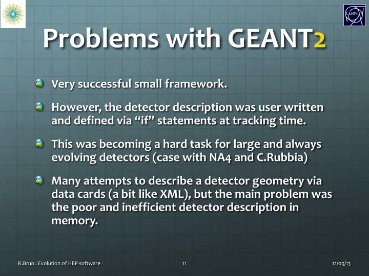 Problems with GEANT