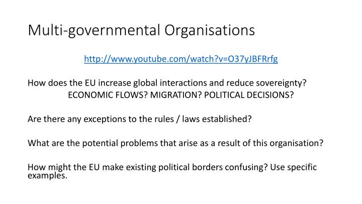 Multi-governmental