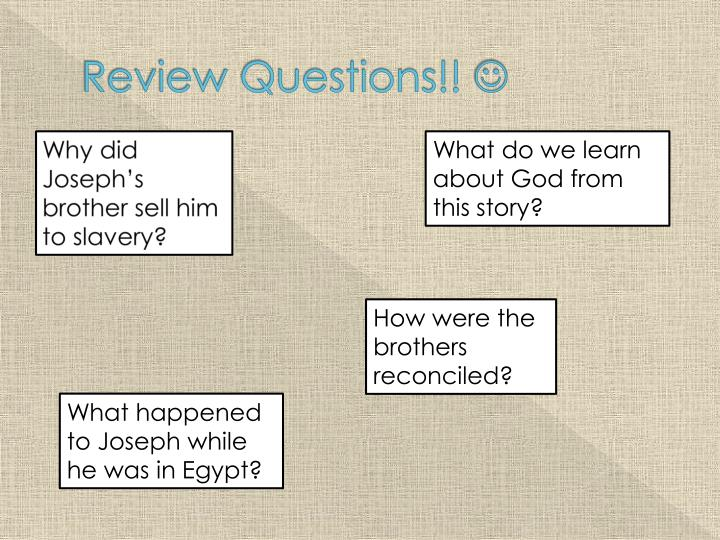 Review Questions!!