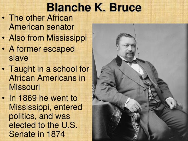 a biography of blanche k bruce Multimedia for blanche k bruce see trusted britannica articles at the top of every search download our free chrome extension.