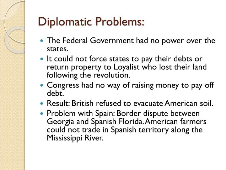 Diplomatic problems