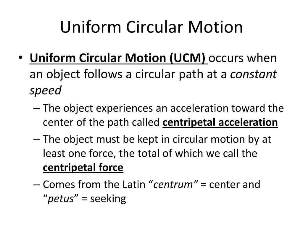 PPT - Uniform Circular Motion PowerPoint Presentation ...
