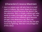 characters jessica mastriani