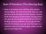 sean o hanahan the missing boy