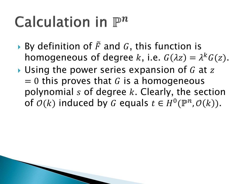 PPT - Complex Geometry : Introduction to holomorphic line bundles