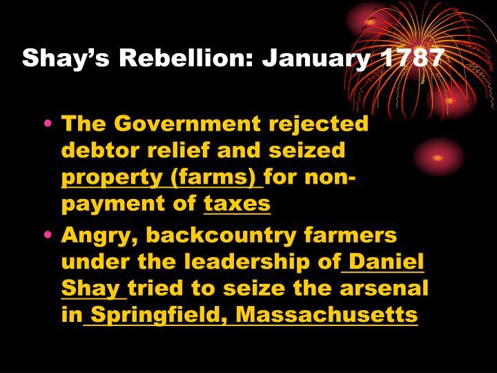 Shay's Rebellion: January 1787