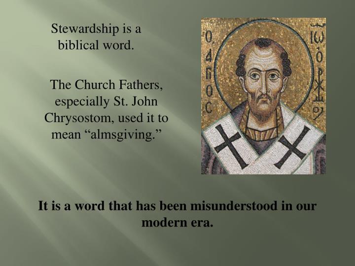 Stewardship is a