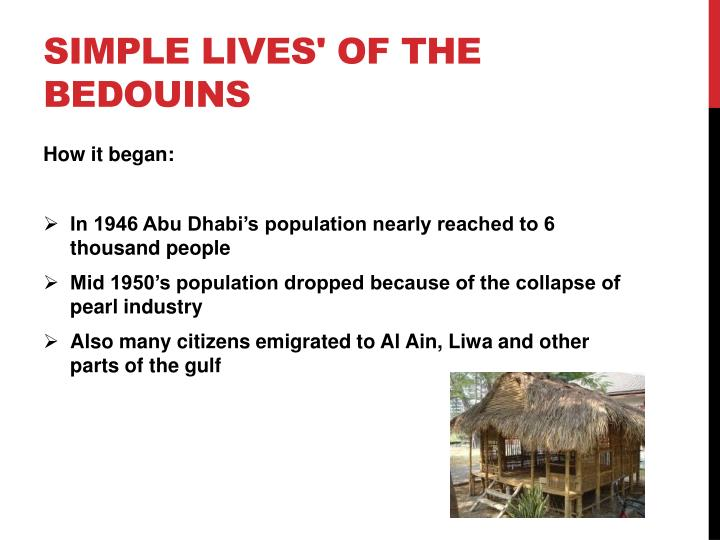 Simple lives of the bedouins