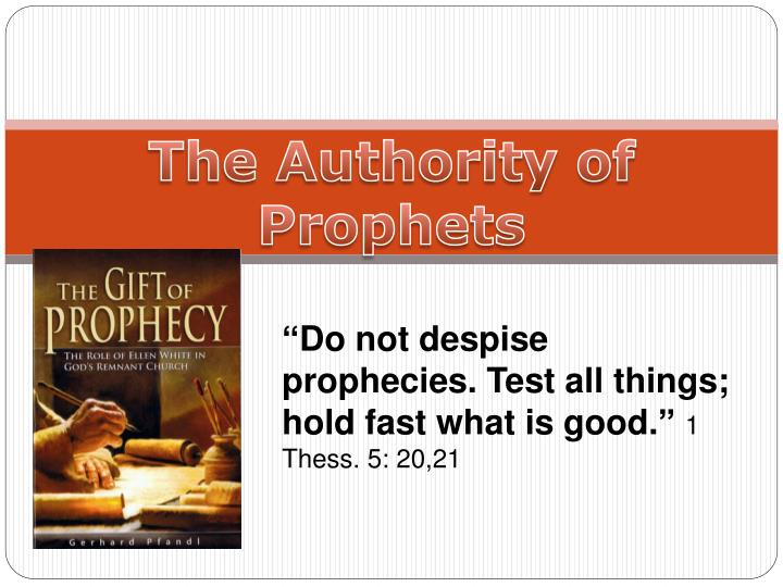 PPT - The Authority of Prophets PowerPoint Presentation - ID