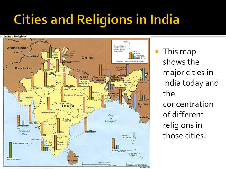 Cities and Religions in India