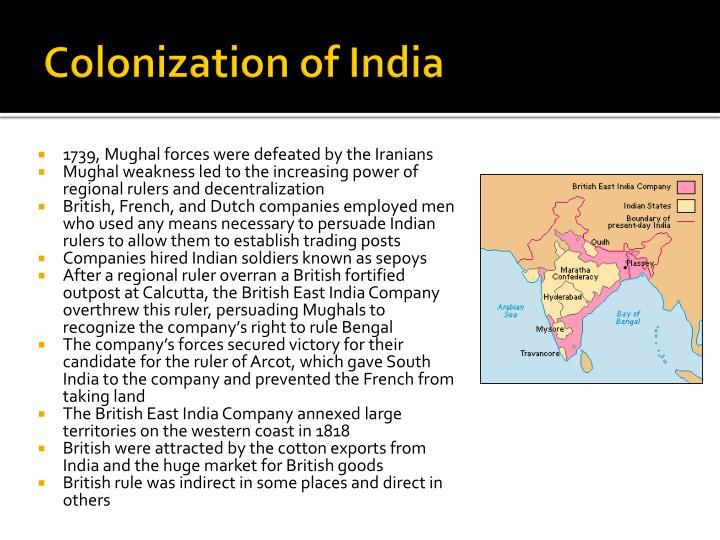 Colonization of india