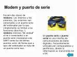 modem y puerto de serie