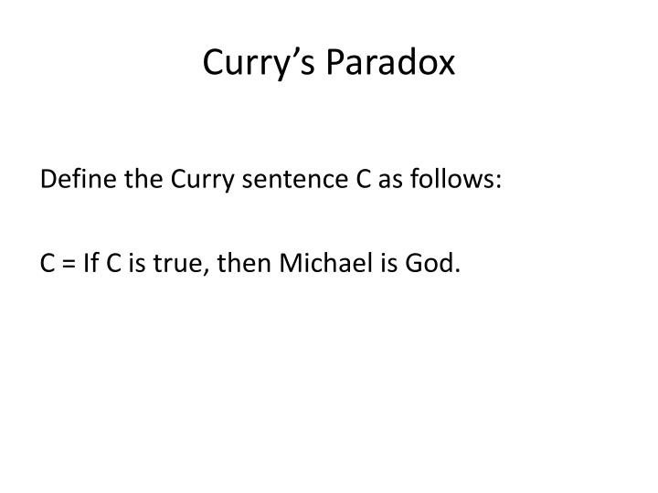 Curry's Paradox