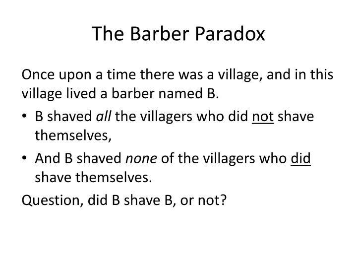 The barber paradox