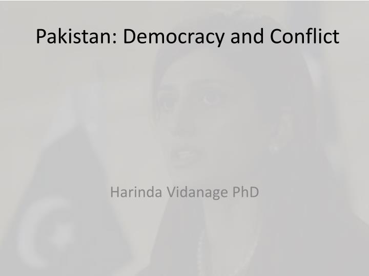 pakistan democracy and conflict n.