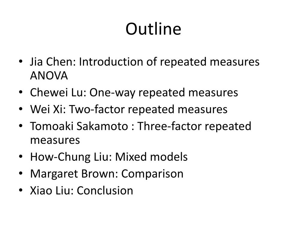 PPT - Repeated Measure Design of ANOVA PowerPoint Presentation - ID