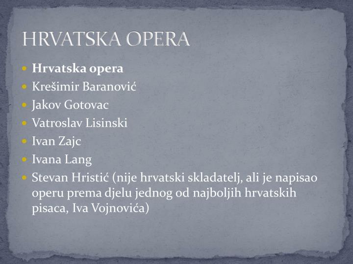 Hrvatska opera