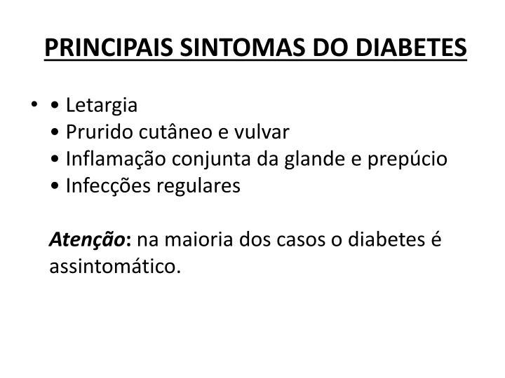 PRINCIPAIS SINTOMAS DO DIABETES
