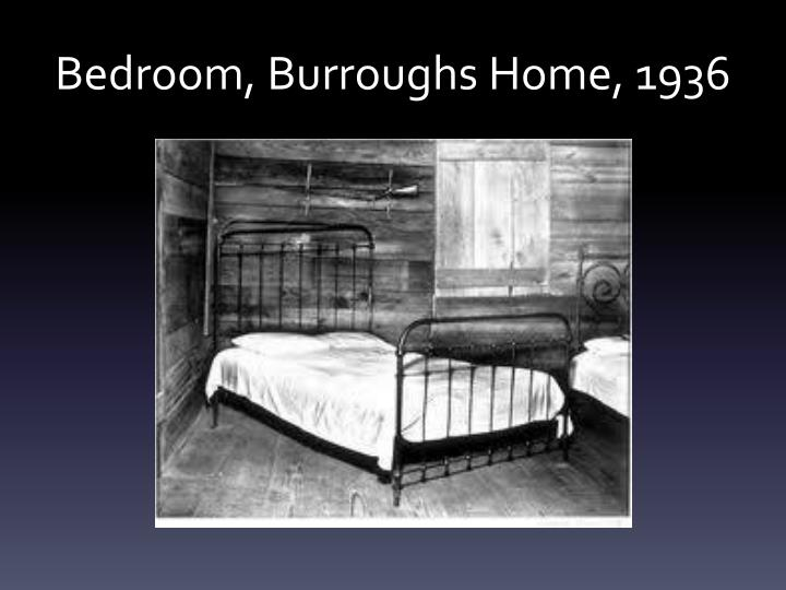 Bedroom, Burroughs Home, 1936