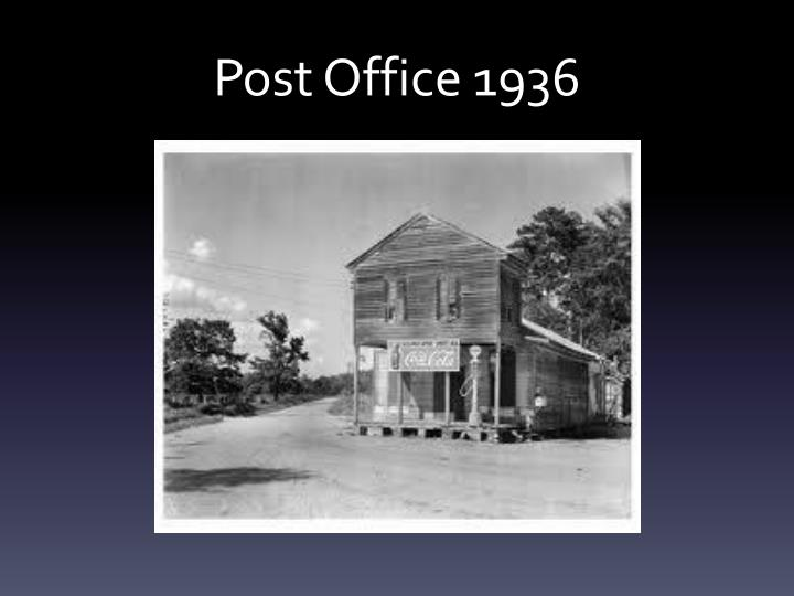 Post office 1936