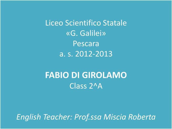 Liceo Scientifico Statale